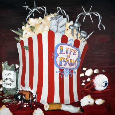 CD Cover Life is Pain - Eat Popcorn